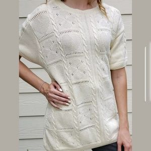 Orvis Womens XL Vtg Cable Knit Pullover Sweater